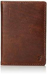FRYE Men's Logan Antique Pull Up Passport Wallet, Dark Brown, One Size