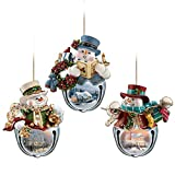 Thomas Kinkade Snow-Bell Holidays Tree Ornaments