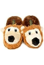 Saber Squirrel Animal Plush Cushion Indoor Outdoor NonSlip Grip Slippers S 5-6