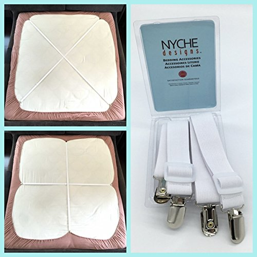 Why Should You Buy Crisscross Adjustable Bed Sheet Straps Suspenders Model W1 (Set of 2, White)