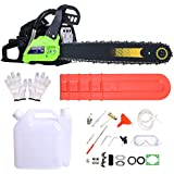 Wakrays 20-Inch 3.6HP 59cc 2 Stroke Petrol Powered Chain Saw, Professional Petrol Alloy Starter & Assisted Start Chainsaw