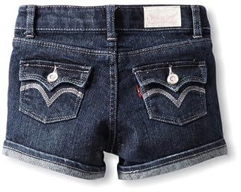 (1.6折)Levi's Girls 2-6X Sweetie李维斯Blue Attitude色牛仔短裤$5.59