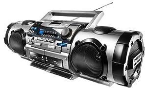 Karcher RR 512 Radio Boombox (Doppelkassettendeck, CD-/MP3-Player, USB 2.0)