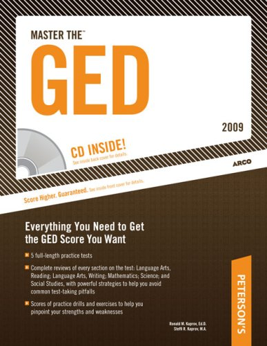 Master The Ged 2009 (With Cd) (Peterson'S Master The Ged (W/Cd))