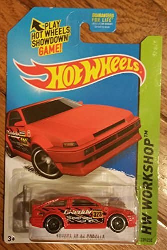 2015 Hot Wheels HW Workshop Toyota AE 1986 Corolla Red Mint In Package - 1