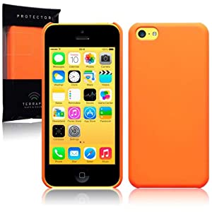 iPhone 5C Rubberised Hybrid Back Cover Case / Shell / Shield - Neon Orange