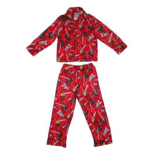 2 PCS SET: Boys Or Girls Star Wars Fleece Sleepwear Pajama Top & Pants Set
