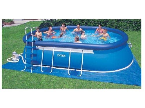 intex pool komplett set oval frame pool 610x366x122. Black Bedroom Furniture Sets. Home Design Ideas