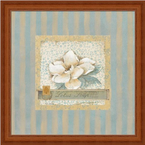 Lotus Soap By Carol Robinson Cottage Chic Bathroom Decor Art Print Framed Picture front-758974