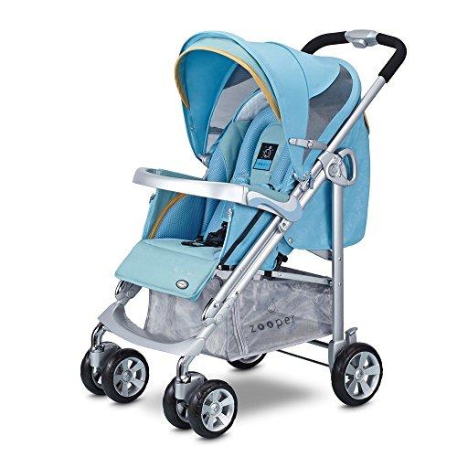Waltz Smart Standard Stroller- Cyan front-390434
