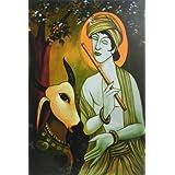 Cowherd Krishna - Reprint On Card Paper - Unframed