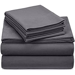 Pinzon Heavyweight Flannel Sheet Set - Queen, Graphite