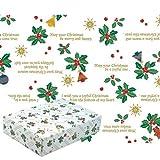 タカ印 クリスマス包装紙 10枚ロール ホーリーデコ 全判 49-4524