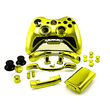 Xbox 360 Chrome Gold Replacement Controller Shell