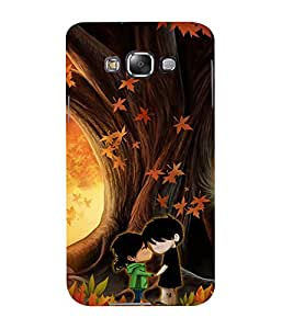 Mental Mind 3D Printed Plastic Back Cover For Samsung Galaxy E7- 3DSAME7-G1234