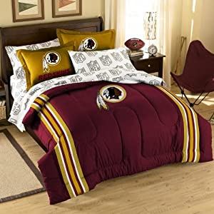NFL Washington Redskins Full Bed in a Bag with Applique Comforter by Northwest