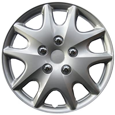 Drive Accessories Silver ABS Plastic Wheel Cover, (Set of 4)