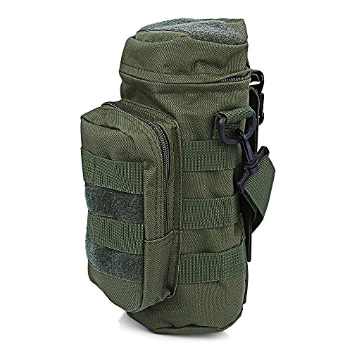 Life-Plus Ultra-light Molle Compatible Water Bottle Pack Tactical Military Pouch Polyester Body Durable Zipper Closure Flip Top Green (Mossad Type Tactical Cargo Bag compare prices)