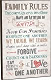 Family Rules Mounted Wall Art 18 X 12