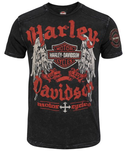 Harley-Davidson Mens Hardcore Ride Specialty Wash Black Short Sleeve T-Shirt (2X-Large)