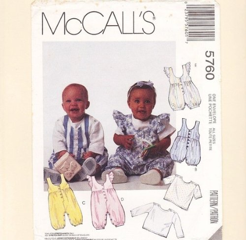 Mccalls 5760 Baby Clothes Pattern front-882566