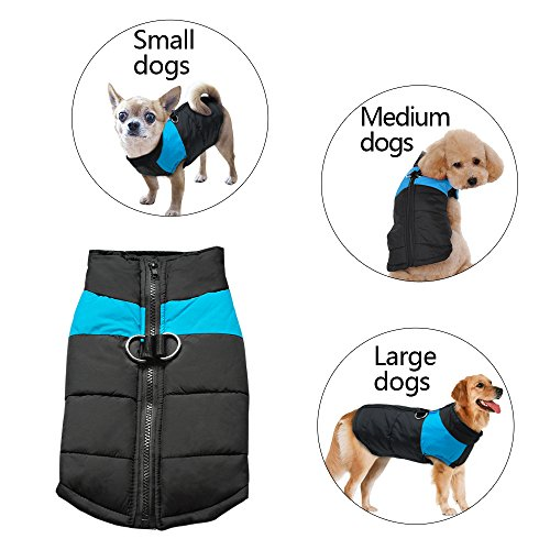 Didog Cold Weather Dog Warm Vest Jacket Coat,Pet Winter Clothes for Small Medium Large Dogs,Blue,3XL Size (Winter Jacket For Bulldog compare prices)