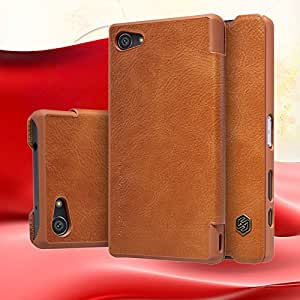 Sony Xperia Z5 SANCHAR'S NILLKIN Sony Xperia Z5 NILLKIN Genuine Flip Leather Case (BROWN)