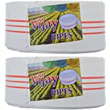 Vijay Pipes LDP Delivery Hose Pipe, 400 Ft X 5 Inch, White, Set Of 2