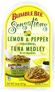 Bumble Bee Sensations lemon pepper Tuna Medley Kit,  3.6 Ounce Packages (Pack of 12)