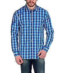 Enryca Men's Casual Shirt(ENMSH 0103BLUE -XL_Blue_44)