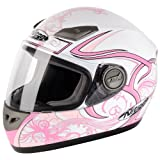 187127 - Nitro Dynamo Junior Motorcycle Helmet M White/Pink (17)