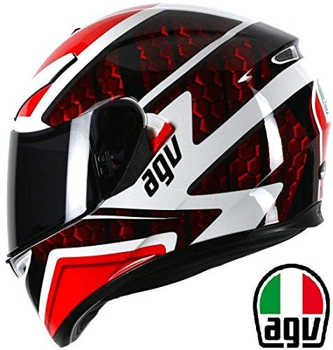 Nuovi Casco integrale AGV K3 PULSE Casco Moto Touring Full Face Sportivi Caschi integrali da Corsa, Rosso (S)