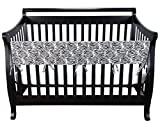 Trend-Lab-Cotton-CribWrap-Rail-Cover-for-Long-Rail-Black-White-Zebra-Wide-for-Crib-Rails-Measuring-up-to-18-Around