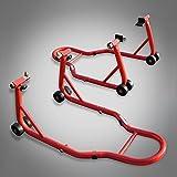RWSTTK RicambiWeiss Motorradständer Montageständer Set für vorne & hinten Motorradheber