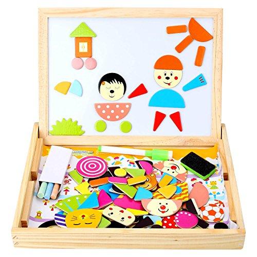 Bambino Giocattoli di Puzzle con la Lavagna Magnetica Realizzata in Legno