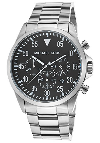 Michael Kors MK8413 45mm Silver Steel Bracelet & Case Mineral Men's Watch