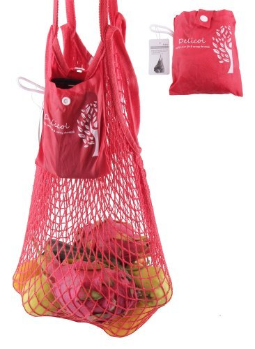 delicol-reusable-foldable-cotton-string-shopping-bag-tote-bag-with-two-handlescolors-various-red
