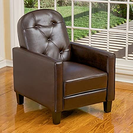 Miller Brown Leather Recliner
