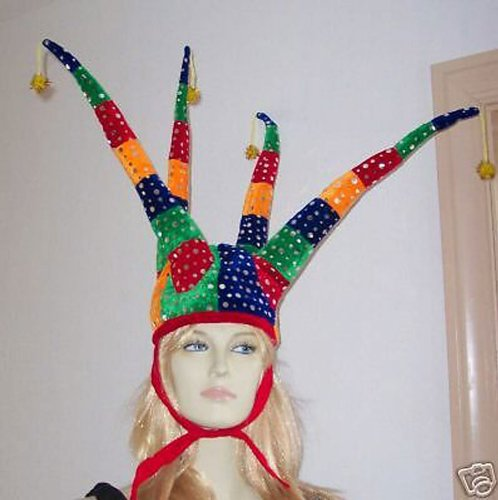 Jester Hat Court Jester Halloween Mardi Gras Costume Masquerade New Orleans Party