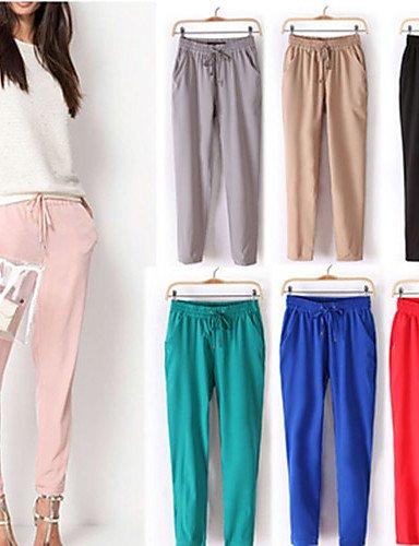 ZY/ DONNE - Pantaloni - Informale / Lavoro A vita medio-alta - Largo Cotone , s-cream , s-cream