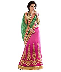 silvermoon women's georgette embroidered free size fancy saree-sm_NMGMA2104_green_free size
