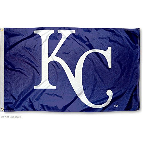 MLB Kansas City Royals 01777115 Deluxe Flag, 3' x 5'