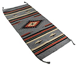 Onyx Arrow Southwest Décor Area Rug, 20 x 40 Inches, Center Diamond, Gray/Black/Multi