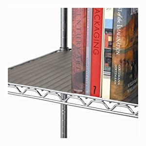 Seville Classics 2 Individual Smoke Gray Fitted Shelf Liners, Designed to Fit 17 x 35 Wire Shelves (Color: Gray, Tamaño: 35 x 17)