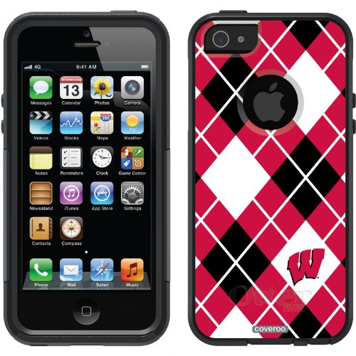 Best Price University of Wisconsin Argyle design on a Black OtterBox® Commuter Series® Case for iPhone 5s / 5