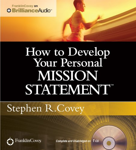 How to Develop Your Personal Mission Statement (Personal Brilliance compare prices)