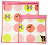 Jaq Jaq Bird Perfect Pouch Storage Bag, Dots, Large, 2 Pack