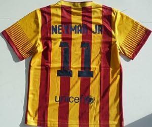 Buy 2013 2014 FC BARCELONA AWAY NEYMAR JR 11 FOOTBALL SOCCER KIDS JERSEY by FCB