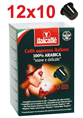 Find 120 Italcaffe Arabica Coffee Pods Capsules, Nespresso Compatible from Italcaffè S.p.A.