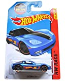 Hot Wheels, 2015 HW Race, C6 Corvette Martin Arriola [Blue] Die-Cast Vehicle #131/250, 1:64 Scale